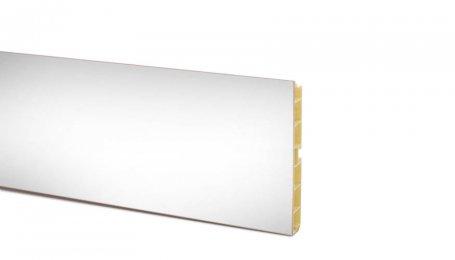 Цоколь ПВХ 100мм, длина 4м, белый глянец