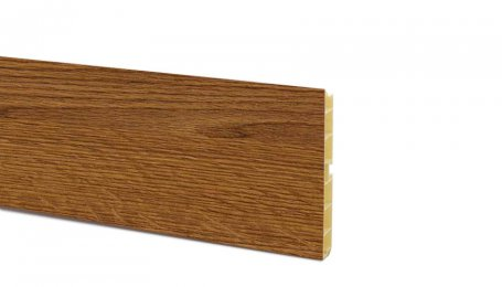 Цоколь ПВХ 100мм, длина 4м, орех рустикальный гладкий