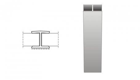 Соединительный элемент  180° для цоколя, белый