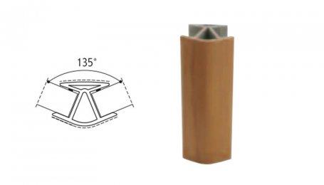 Соединительный элемент, 100мм 135° для цоколя, бук