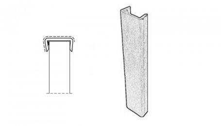 Заглушка для цоколя 100 мм, алюминий