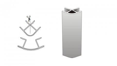 Соединительный элемент, 100мм 90° для цоколя, вишня