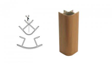 Соединительный элемент, 100мм 90° для цоколя, бук