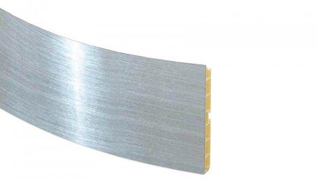 Элемент закругление 100мм для цоколя, хром