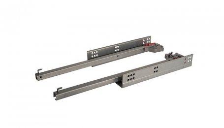 Направляющие скрытого монтажа, 500 мм, с демпфером и фиксаторами, полное выдвижение