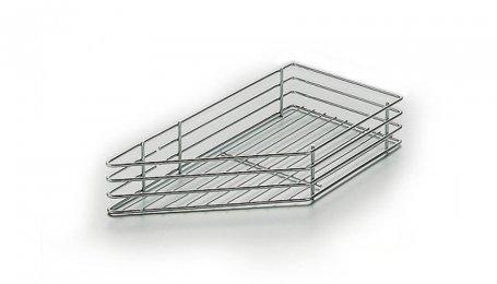 Навесная корзина для углового шкафа 470x225x80, правая