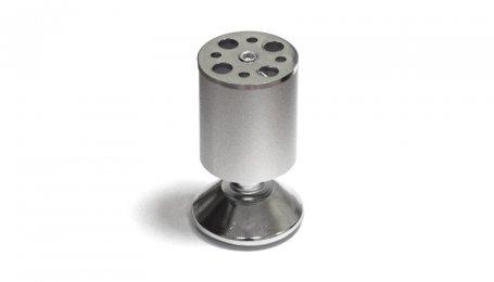 Опора регулируемая, 100х50 мм, матовый хром