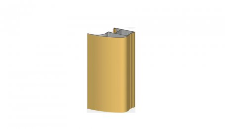 Профиль-ручка ассимметричный, Золото, 5.3 м