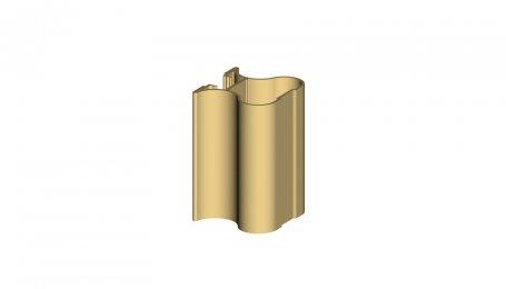 Профиль-ручка симметричный, Золото, 5.3 м