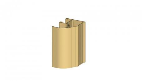 Профиль-ручка асимметричный, Золото, 5.3 м