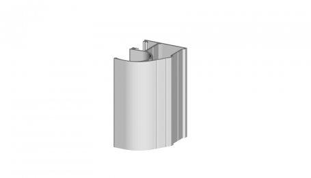 Профиль-ручка асимметричный, Серебро, 5.3 м