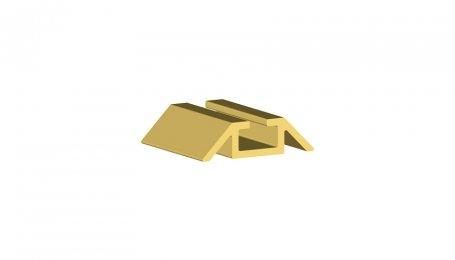 Нижняя одинарная направляющая, Золото, 6 м