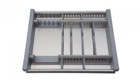 Лоток для столовых приборов, 600 мм, нерж. сталь