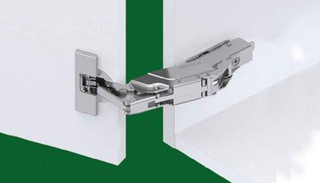 Петля Tiomos для накладных дверей с углом открытия 160° c амортизатором