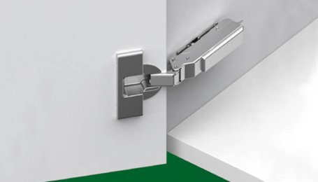 Петля Tiomos для вкладных дверей с углом открытия 110° с амортизатором