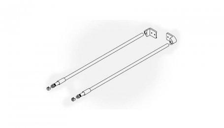 Комплект круглых продольных рейлингов для ящиков, 450 мм
