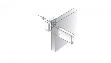 Крепление для прямоугольного рейлинга к задней стенке