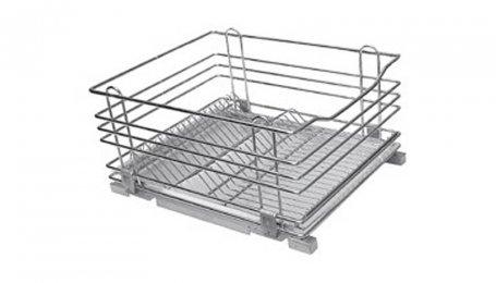 Выкатной посудосушитель 600 мм, с алюминиевым поддоном, без направляющих, с крепежным комплектом.