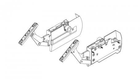 Подъёмник для открытия дверей под углом выс. до 720 мм, Kinvaro S-35