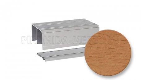 Рельс двойной для алюминиевых систем 5000 мм, бук