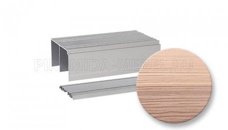 Рельс двойной для алюминиевых систем, 5000 мм, фино бронза
