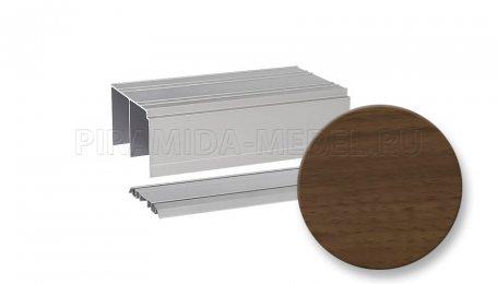 Рельс двойной для алюминиевых систем, 5000 мм, орех