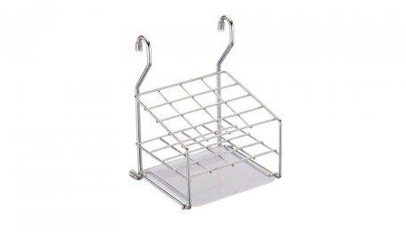 Держатель для столовых приборов, 149x150x222, хром, с пластиковым поддоном