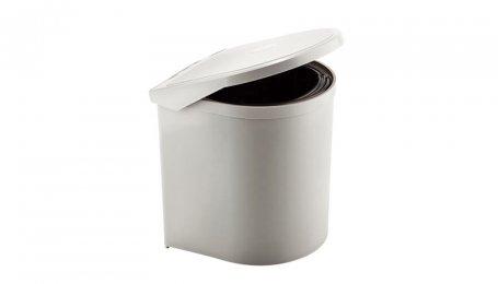 Ведро для мусора круглое белое покрытие