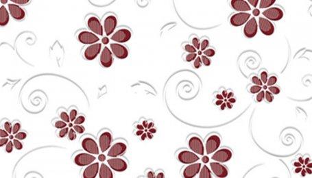 Стекло окрашенное с узором Цветы вино