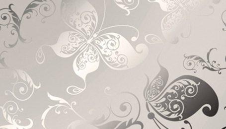 Стекло декоративное с узором Бабочки шелк