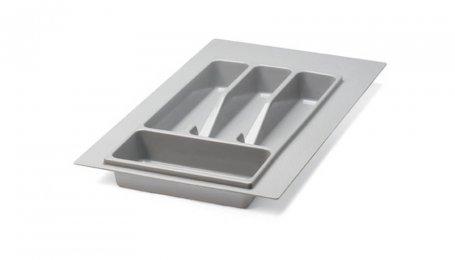 Лоток для столовых приборов 300 мм, серый