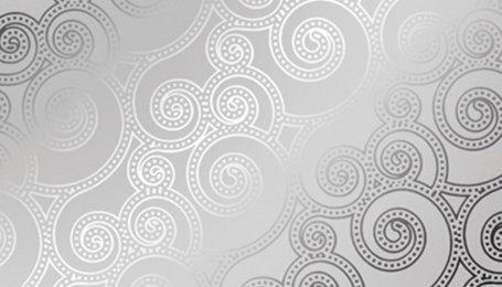 Зеркало декоративное с узором Туарег серебро
