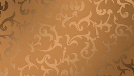 Зеркало декоративное с узором Акация бронза