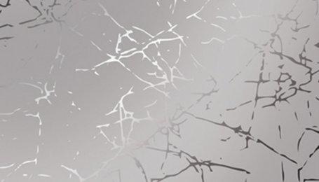 Зеркало декоративное с узором Треснувший лед серебро