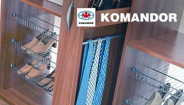 Наполнение шкафов-купе Komandor